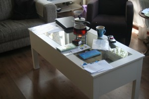 salontafel in gebruik