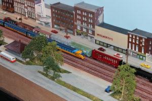 N-spoor modelbaan naar Amerikaans voorbeeld